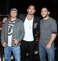 On Saturday, Feb. 22, Anthony Pettis, Urijah Faber, Chad Mendes, Sergio Pettis and TJ Dillashaw hosted the evening at miX Lounge atop Mandalay Bay Resort and Casino in Las Vegas (Pictured: Urijah Faber, Anthony Pettis and Chad Mendes - Photo credit:  Joseph Donato of Cashman Photos).