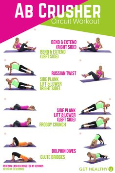 In need of a quick core workout? This 10-minute ab crusher circuit workout is for you!