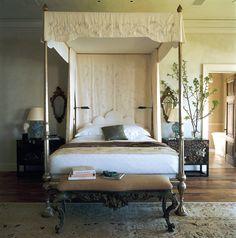 Canopy bed in master. Malibu, California | Ferguson & Shamamian