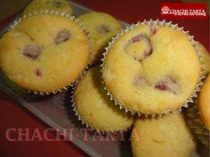 Magdalenas de cumpleaños - Chocolate blanco y frambuesas (sin gluten)