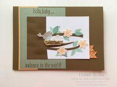 Baby card using Stampin Up Swirly Bird. By Debbie Blake Su Swirly Scribbles, Valentine Banner, Paper Crafts, Diy Crafts, Bird Cards, Stampin Up Cards, Card Making, Blog Title, Handmade
