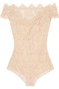 oh wow ! classy !La Belle Chantilly lace bodysuit #covetme #i.d.sarrieri