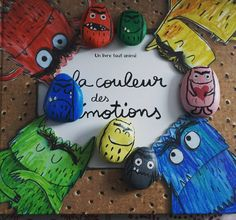 des petits galets pour la couleur des émotions Arts And Crafts, Paper Crafts, Counseling Activities, Monster, Elementary Art, Kids Learning, Kindergarten, Have Fun, Christmas Ornaments