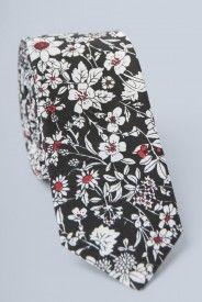 Funky Floral Tie - Black