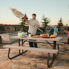 Lifetime 6 ft. Folding Picnic Table with Benches-22119 at The Home Depot