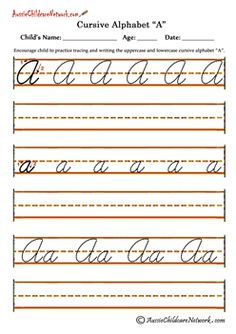 Worksheets Pinakatay Alphabet free abc cursive bible printables handwriting worksheets printable alphabet pages at aussiechildcarenetwork com
