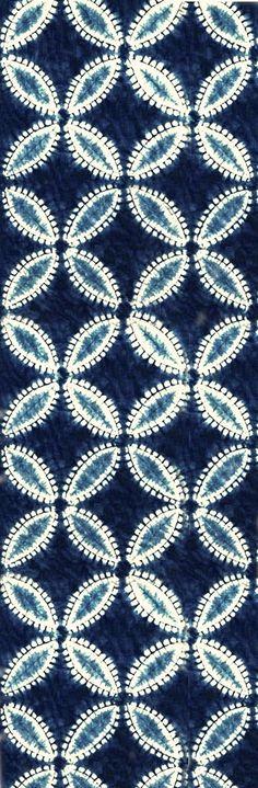 shippo tsunagi shiboripattern | indigo dye - aizome on cotton ~ shibori studio gallery ... much more at pinner's board www.pinterest.com/lalele/shibori/