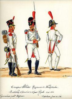 Granatieri e capitano del Btg. granatieri della guardia reale del regno di Westfalia
