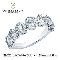 Light up a room with this stunning 14K White Gold and Diamond ring from #GottliebandSons!  This ring has nine graduated brilliant cut diamonds that will sparkle at any angle. Visit your local Gottlieb & Sons retailer and ask for style number 29328.