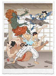 浮世絵風のストリートファイター (1)