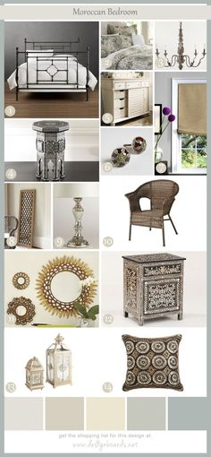 Moroccan Bedroom 5 | Design Boards.  I like some of these things.  Are other color/hues available
