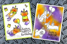 Understand Blue: Have a Purrfect Birthday! + Giveaway + New Coupon Codes Blue Birthday, Cat Birthday, Birthday Cards, Crafters Companion Gemini, Smile Word, Bone Folder, Stamping Tools, April Showers, Distress Ink