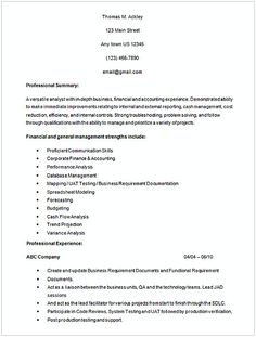 Entry Level Business Analyst Resume Diploma Computer Science Resume Template  Resume  Pinterest