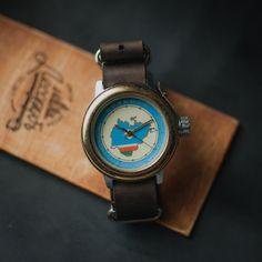 Watch men Slava Amphibian, wrist watch, mens watch, vintage watch, mens watch vintage, soviet vintage Amphibian
