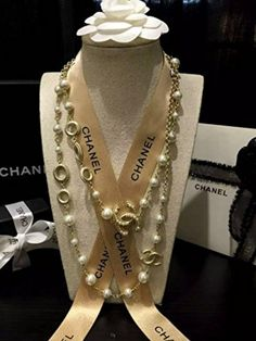 Chanel Necklace Long Gold Pearl BEST OFFER! - Brought to you by Avarsha.com