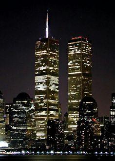 World Trade Center at night.