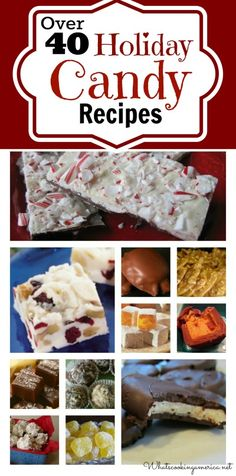 Candy Recipe Index, How To Make Perfect Candy, Holiday Candy Recipes, Whats Cooking America