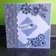 Craftwork Cards: Chambray & Lace Inspired by Christine Orr