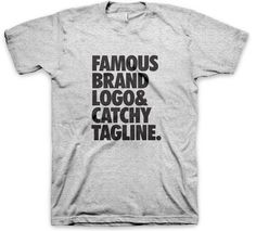"""""""Famous brand logo and catchy tagline"""" Tank Top Designer Friends, Famous Brands, Cool Outfits, Street Style, Tank Tops, Sweatshirts, T Shirt, Fashion Design, Logo"""