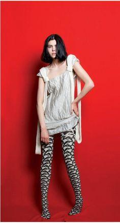 13b14256815 Items similar to Hand printed cotton tights