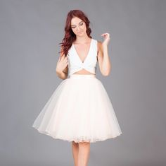 crop top and tulle skirt