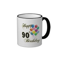 Happy 90th Birthday Gifts and Birthday Apparel Mug