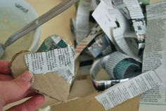Paper Mache Mixed Media Heart Tutorial