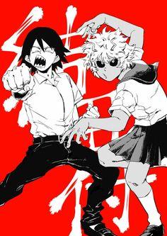Kirishima Eijirou & Ashido Mina