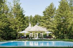 Ralph Lauren's Pool House in Bedford, NY, USA