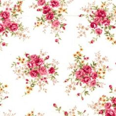 Coral Rose /& Hubble Rose Wildflower Cotton Poplin Floral Fabric Peach