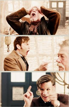 Matt Smith and David Tennant's faces are beautiful. And if you don't agree then you're wrong.