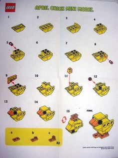 LEGO Store MMMB April '10 - Chick (Instructions) by TooMuchDew, via Flickr
