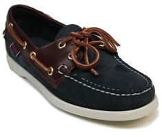 Womens Sebago™B58152 Docksides Blue Boatshoes Med & Wide Widths Size        #Sebago #BoatShoes