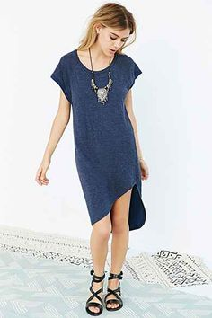 Out From Under Cozy Asymmetrical Slip Dress (yes)