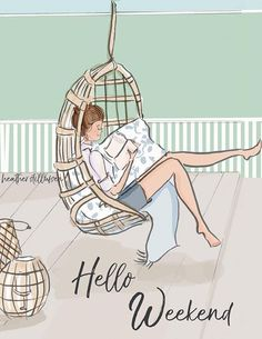 Rose Hill Designs © by Heather Stillufsen Hello Weekend, Bon Weekend, Happy Weekend, Hello Friday, Book Quotes, Art Quotes, Zentangle, My Little Paris, Illustrations