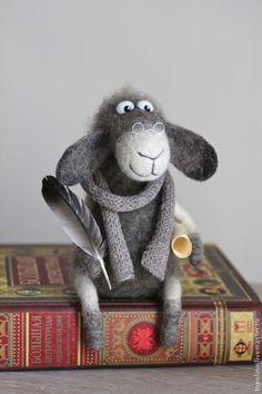 Барашек Нахапет - серый,барашек,барашка,валяная игрушка,овечка игрушка