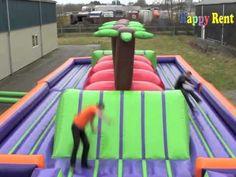 Wipe Out Baan Huren 45 Meter Unieke Dubbele Wipeout® Baan Happy Rent