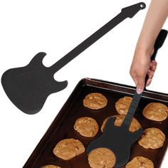 Turn heads while you shred! This red sturdy spatula is carefully engraved with details of frets and knobs. The spatula is 50% rock, 50% roll, and 100% silicone. Ideal for both grilling and cooking indoors. Rock on, cooks! http://www.xmasgiftideas.org/shop/flipper-guitar-spatula/