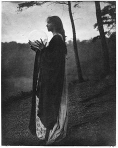 "Symbolist photography-also referred to as ""pictorialist"" or art-photography; The Bubble by Clarence H. White, 1898."