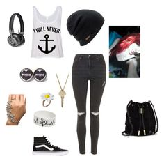 """//I refuse to sink..⚓️\\"" by littleblondegreek123 ❤ liked on Polyvore featuring Topshop, Coal, Vans, The Giving Keys, Master & Dynamic and Vince Camuto"