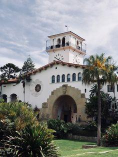 Clock Tower at Santa Barbara Courthouse