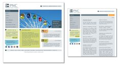 Web design proof - home page and internal page - for PNC.  If pinning, please credit © the-summerhouse.com