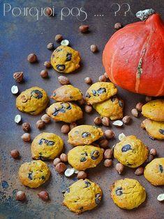 Pourquoi pas .... ??: Cookies potimarron / chocolat / noisettes