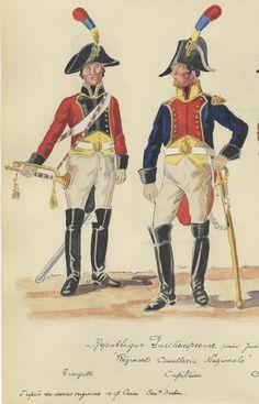 Tromba e capitano di cavalleria della guardia nazionale partenopea