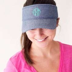 Golf or tennis, anyone? Wear your monogrammed visor at the pool, on the golf course or on the tennis courts, this piece is completely versatile! Soft CottonAdj