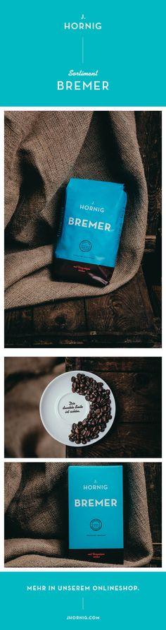 Eine echte Bremadonna - unser J. Hornig Bremer #design #packaging #package #coffee #coffeepackage #kaffeepackung #packagingdesign Corporate Design, Horn, Fine Dining, Horns, Brand Design, Brand Identity Design