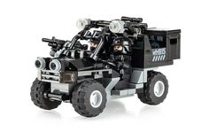 https://flic.kr/p/ubHMvq | Black Ops UTV Sniper Team | World War Brick Minneapolis event kit. Has the following features: • Two minifigs with BrickArms load out and custom printed heads from Citizen Brick. • BrickArms proto M249 SAW with custom printed & drilled BA crate. • Custom printed panels for WWB Minneapolis.