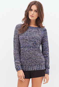 Marled Knit Raglan Sweater   LOVE21 - 2055879997