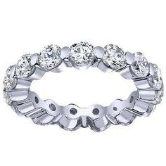 One Carat Diamond Eternity Ring Single Prong One Carat Diamond, Eternity Ring Diamond, Diamond Gemstone, Eternity Bands, Diamond Bands, Diamond Jewelry, Diamond Girl, Floating, Womens Wedding Bands