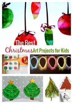 The Best Christmas Art Projects for Kids. Easy art projects for kids to create to create this holiday season.